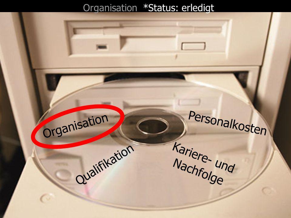 Organisation *Status: erledigt