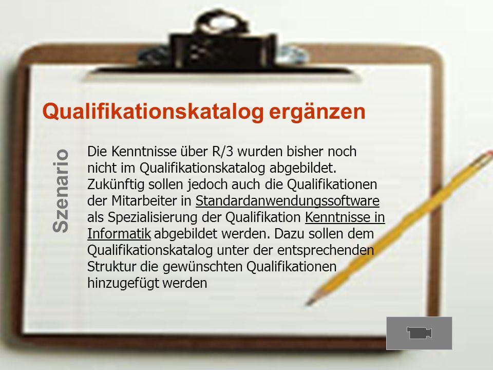 Qualifikationskatalog ergänzen