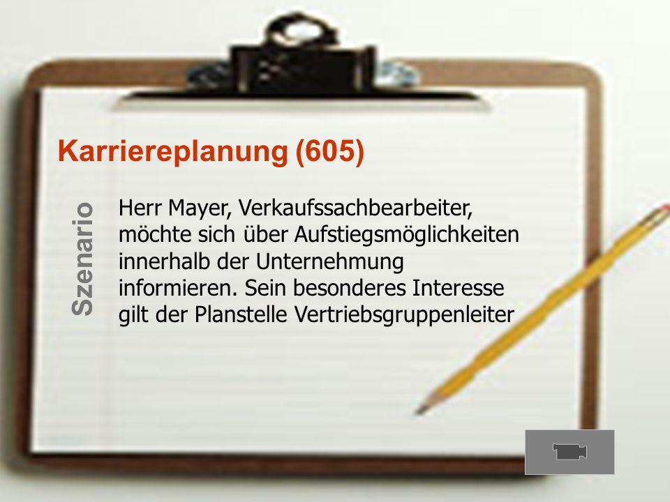 Karriereplanung (605) Szenario