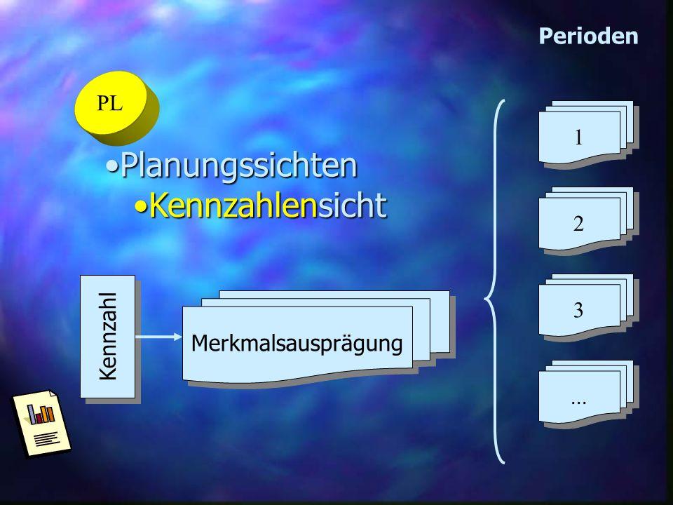 Planungssichten Kennzahlensicht Perioden PL 1 2 3 Kennzahl