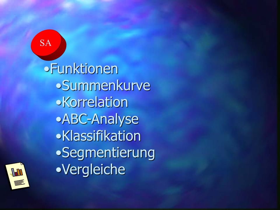 Funktionen Summenkurve Korrelation ABC-Analyse Klassifikation