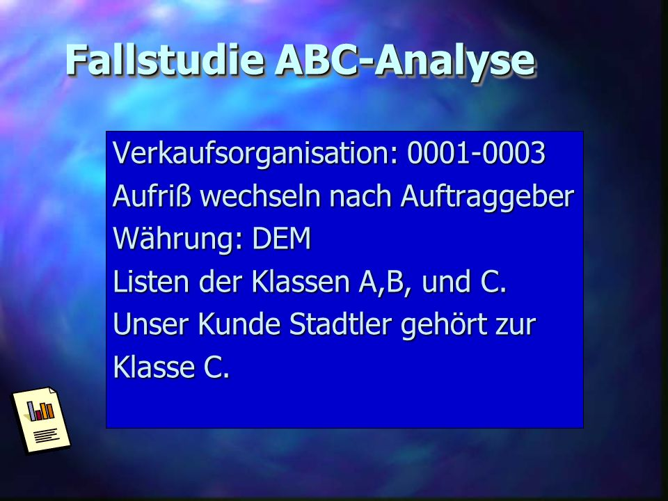 Fallstudie ABC-Analyse
