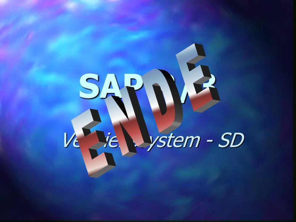 SAP R/3 E N D E Vertriebssystem - SD