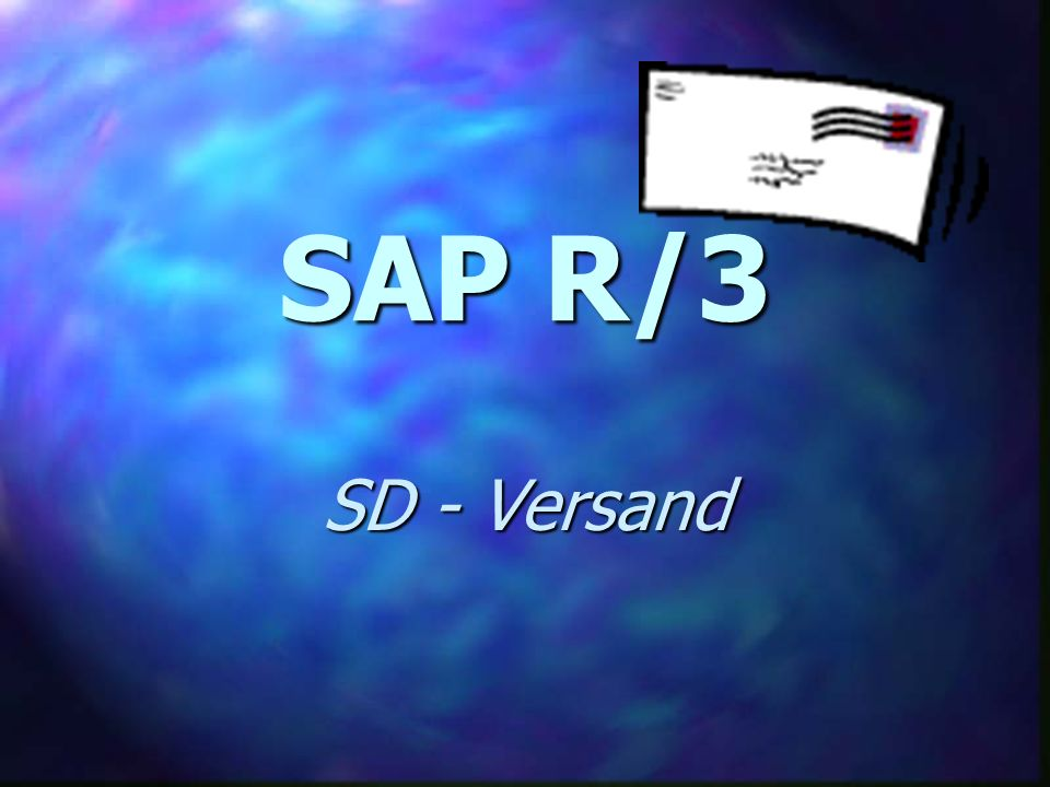 SAP R/3 SD - Versand
