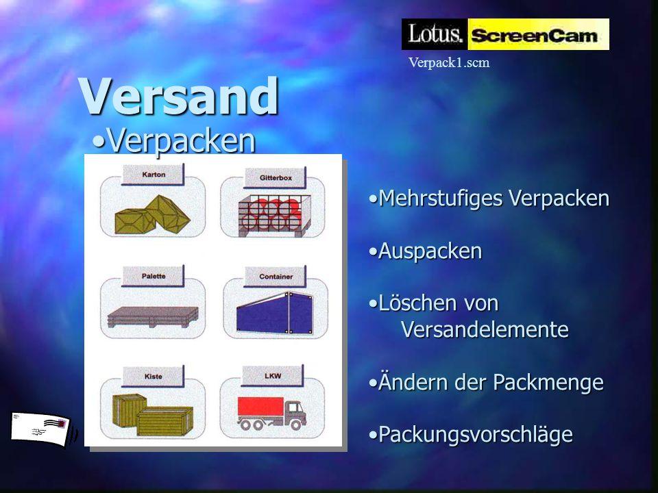 Versand Verpacken Mehrstufiges Verpacken Auspacken Löschen von