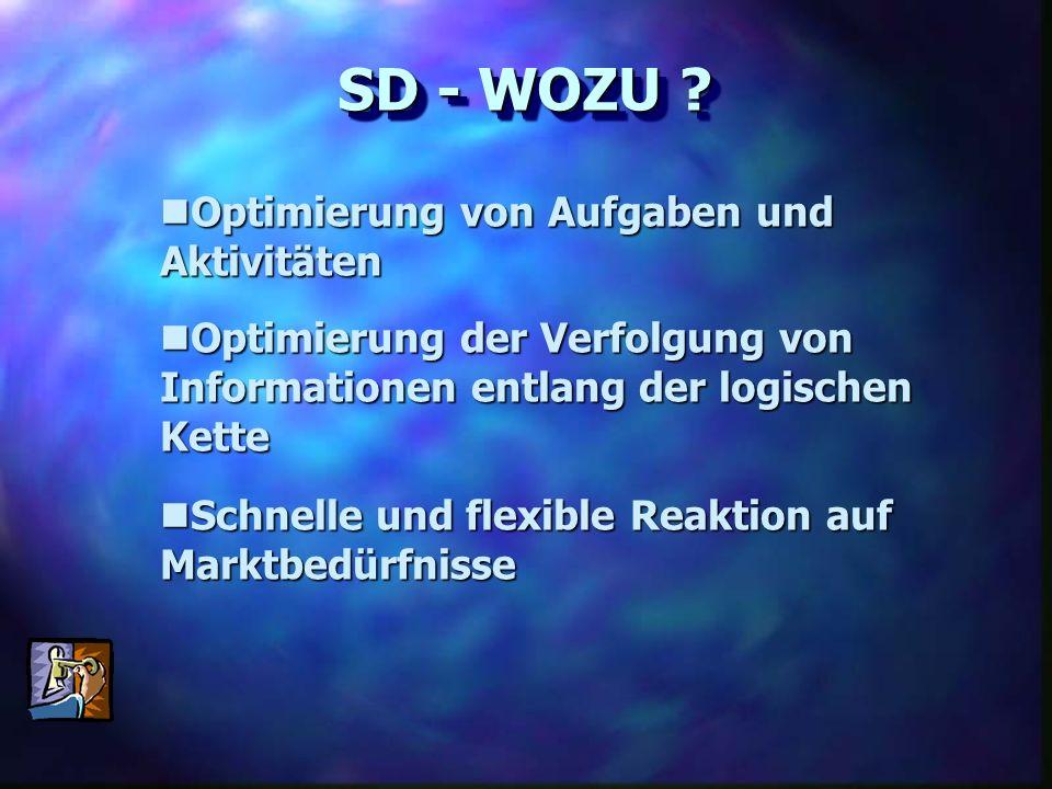 SD - WOZU Optimierung von Aufgaben und Aktivitäten