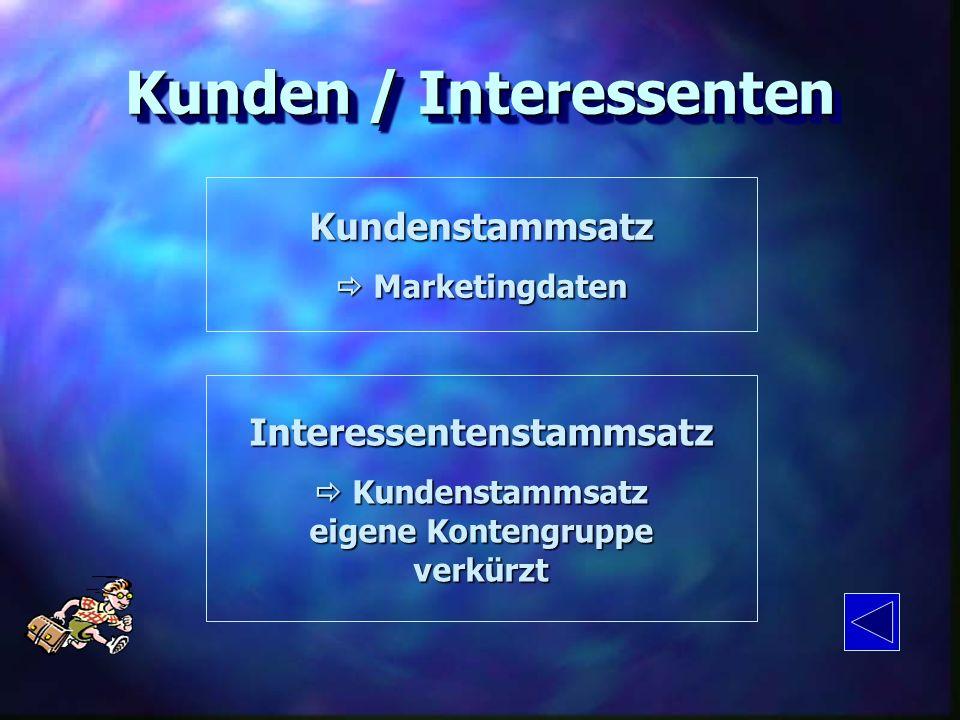 Kunden / Interessenten Interessentenstammsatz