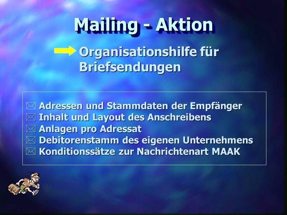 Mailing - Aktion Organisationshilfe für Briefsendungen