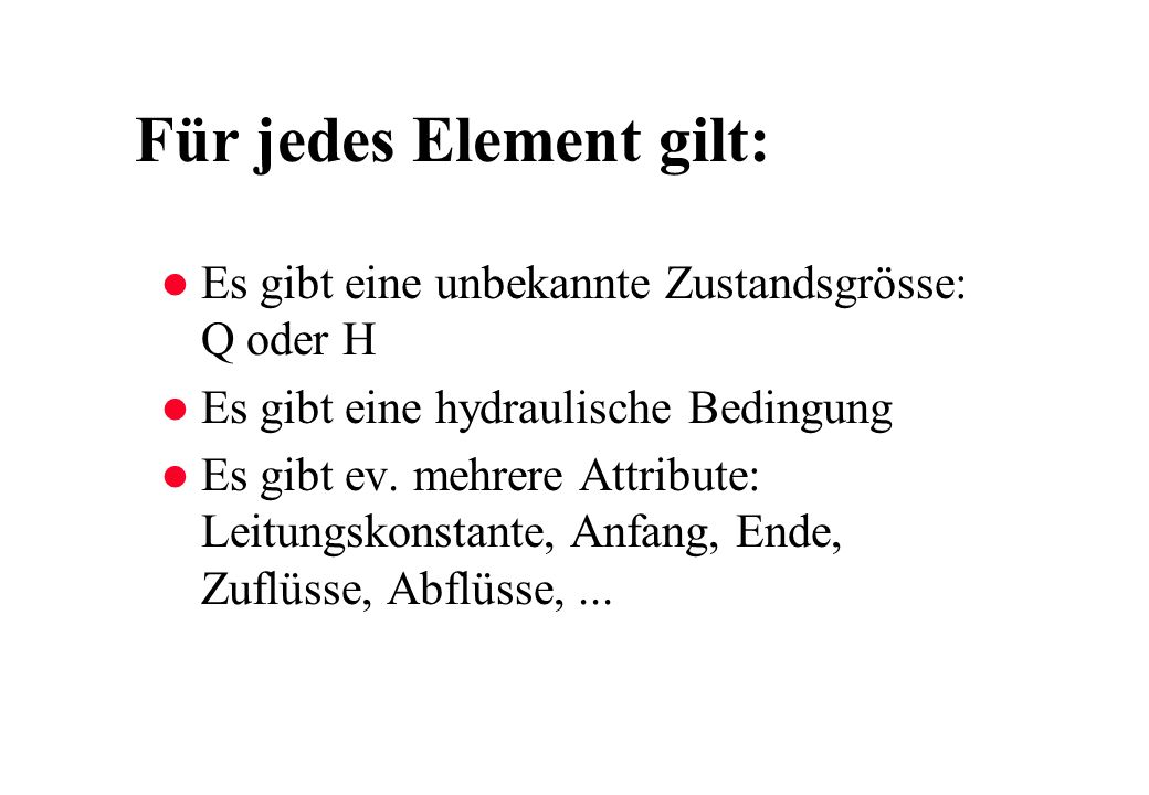 Für jedes Element gilt: