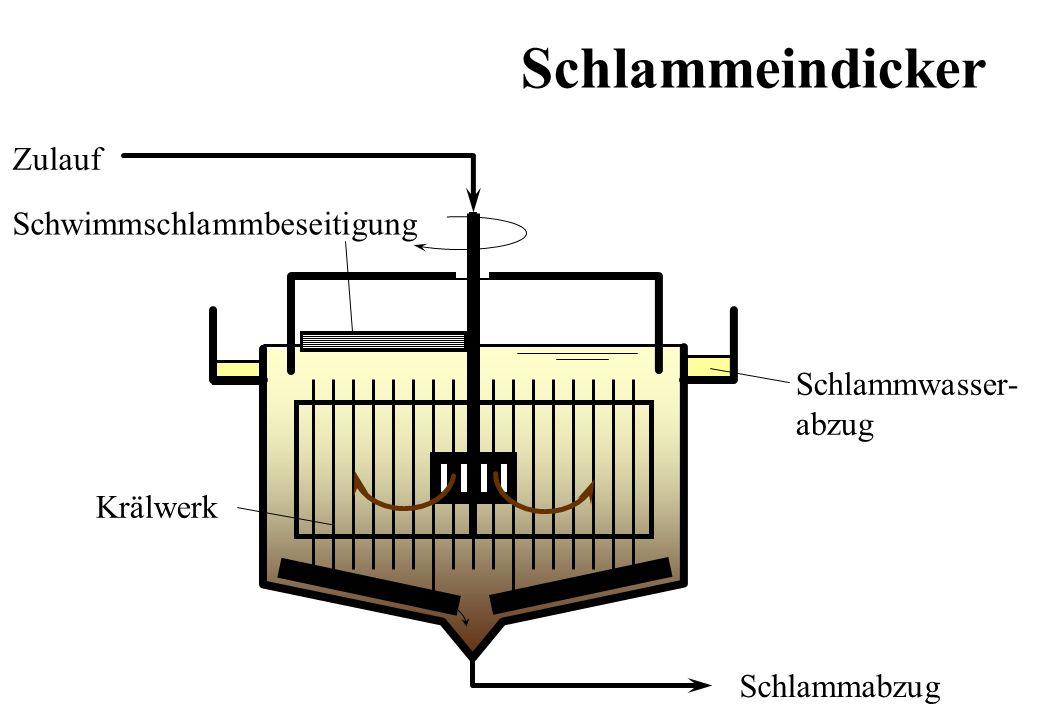 Schlammeindicker Zulauf Schwimmschlammbeseitigung Schlammwasser- abzug