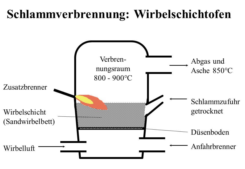 Schlammverbrennung: Wirbelschichtofen