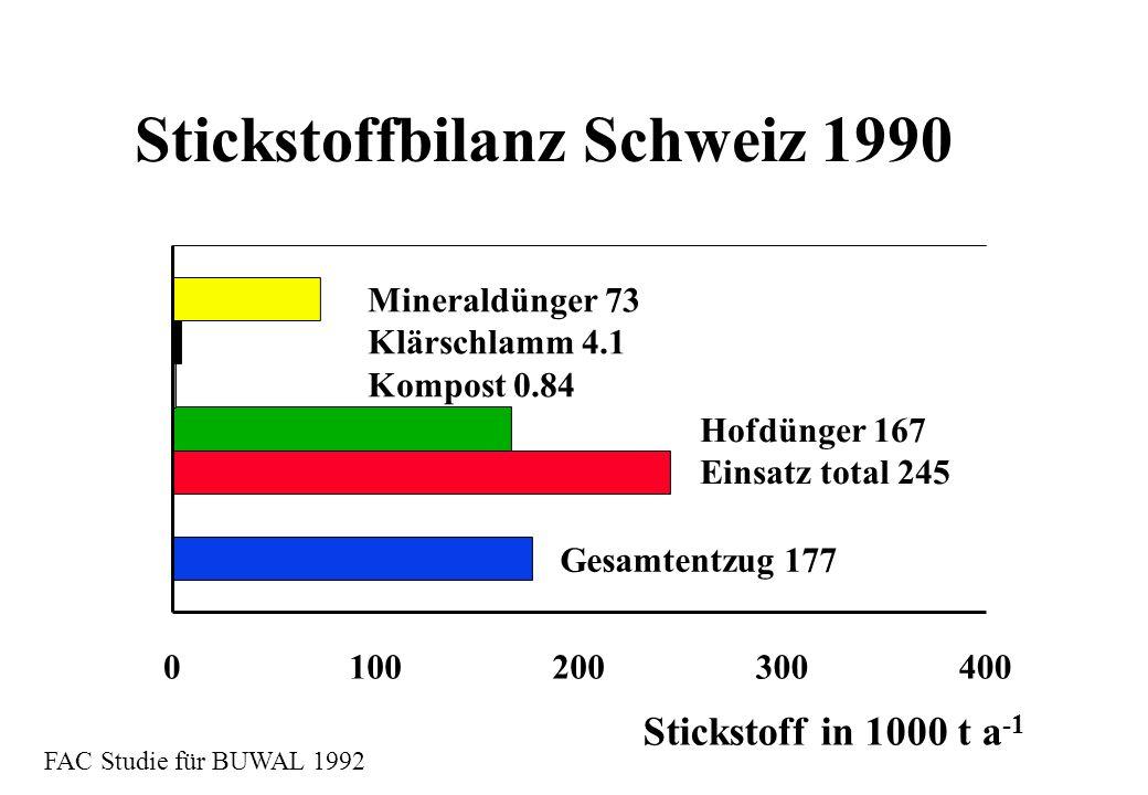Stickstoffbilanz Schweiz 1990