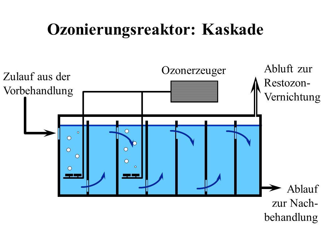 Ozonierungsreaktor: Kaskade