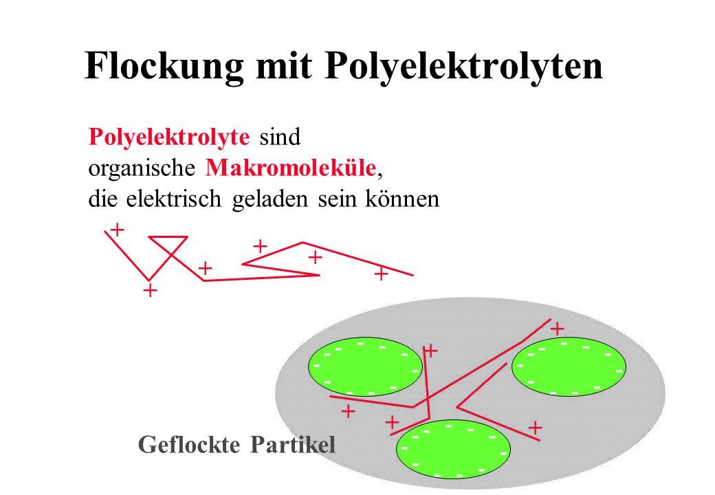 Flockung mit Polyelektrolyten