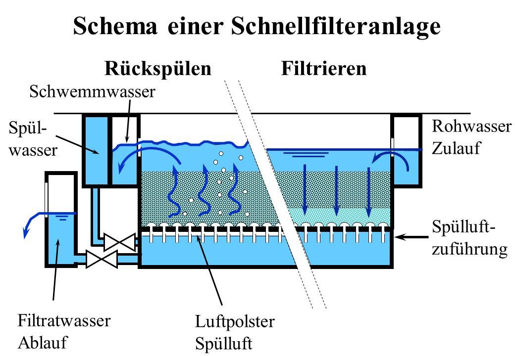 Schema einer Schnellfilteranlage