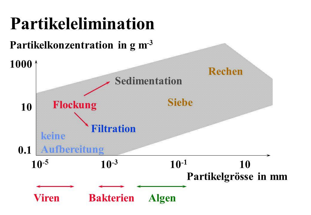 Partikelelimination Partikelkonzentration in g m-3 1000 Rechen