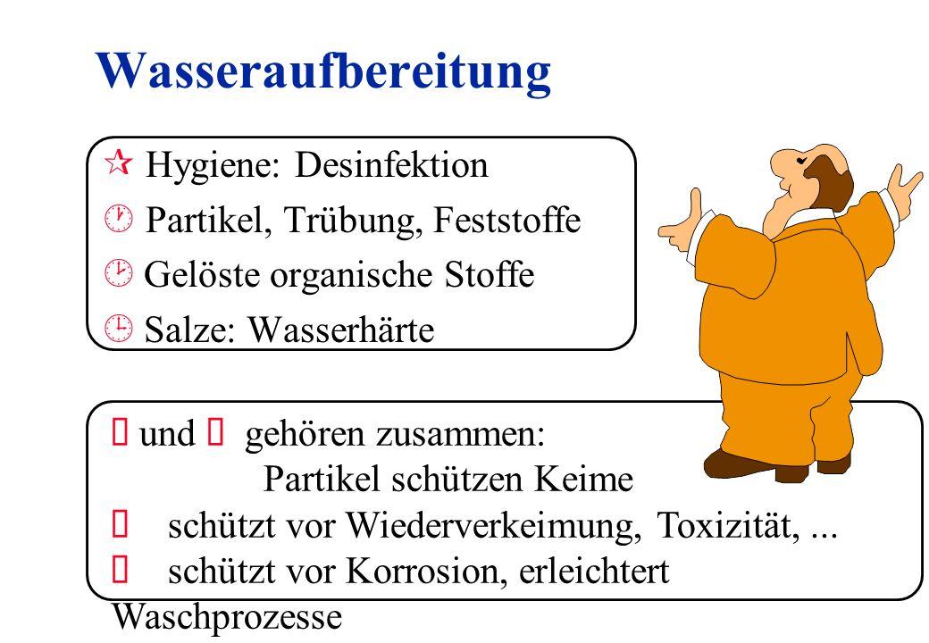 Wasseraufbereitung Hygiene: Desinfektion Partikel, Trübung, Feststoffe