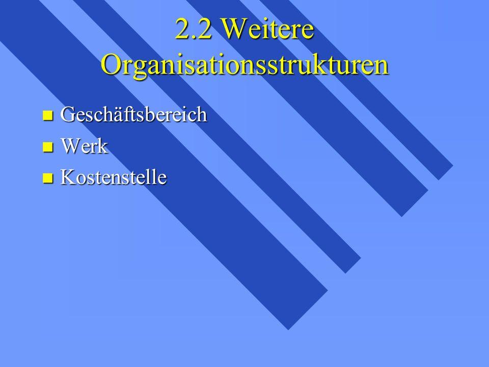 2.2 Weitere Organisationsstrukturen