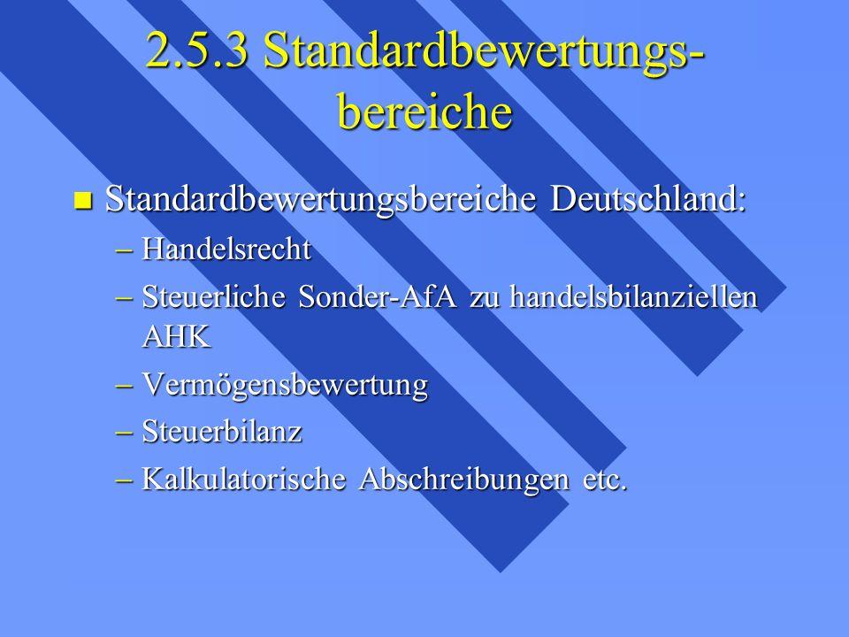 2.5.3 Standardbewertungs-bereiche