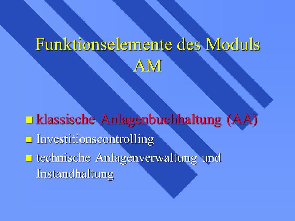 Funktionselemente des Moduls AM