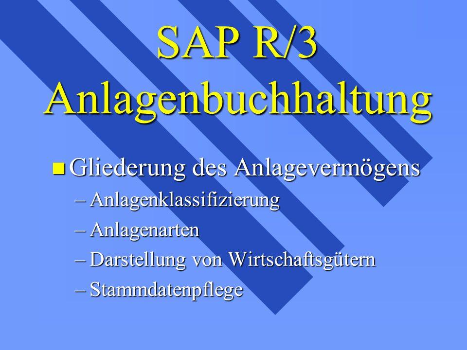 SAP R/3 Anlagenbuchhaltung