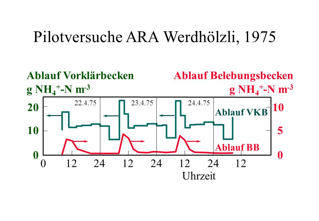 Pilotversuche ARA Werdhölzli, 1975