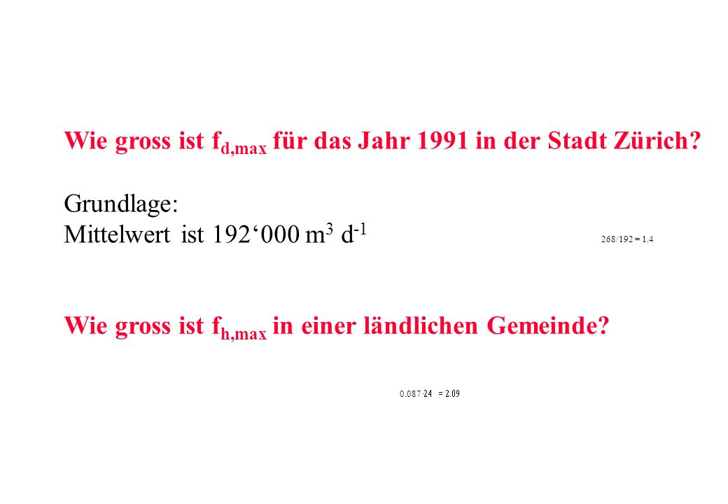 Wie gross ist fd,max für das Jahr 1991 in der Stadt Zürich