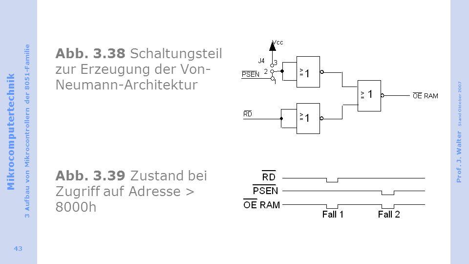 Abb.3.38 Schaltungsteil zur Erzeugung der Von-Neumann-Architektur Abb.