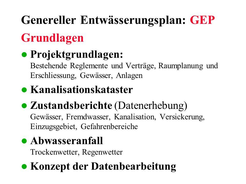 Genereller Entwässerungsplan: GEP