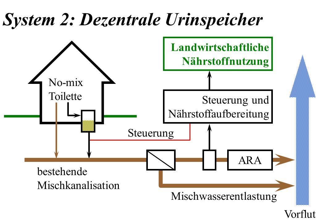 System 2: Dezentrale Urinspeicher