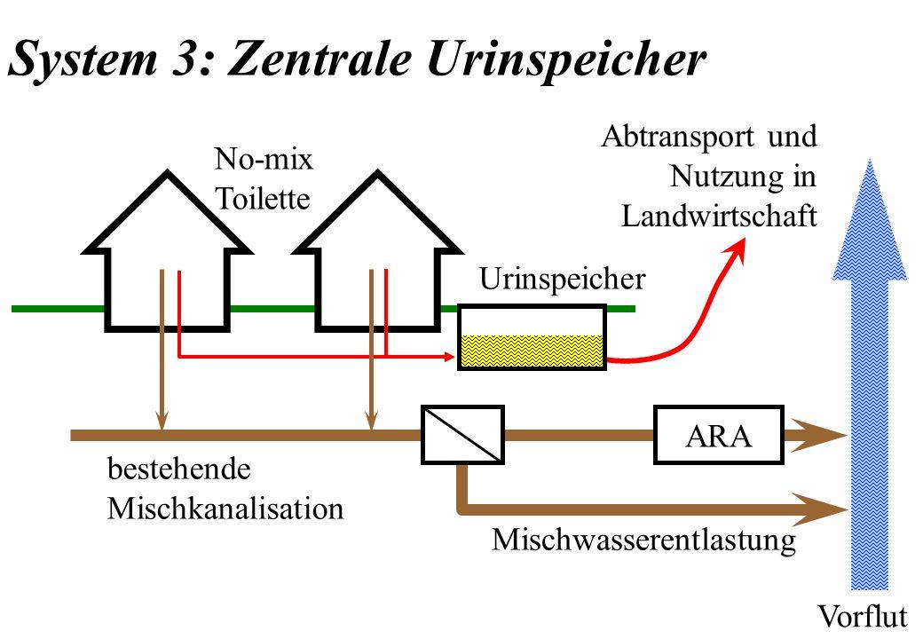 System 3: Zentrale Urinspeicher