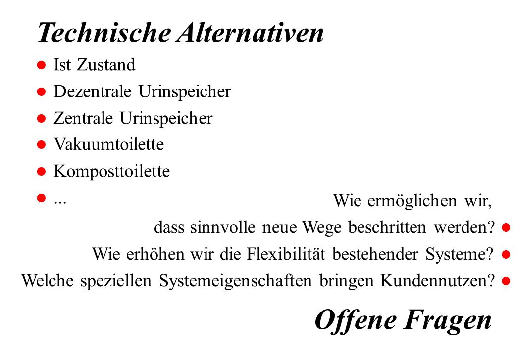 Technische Alternativen