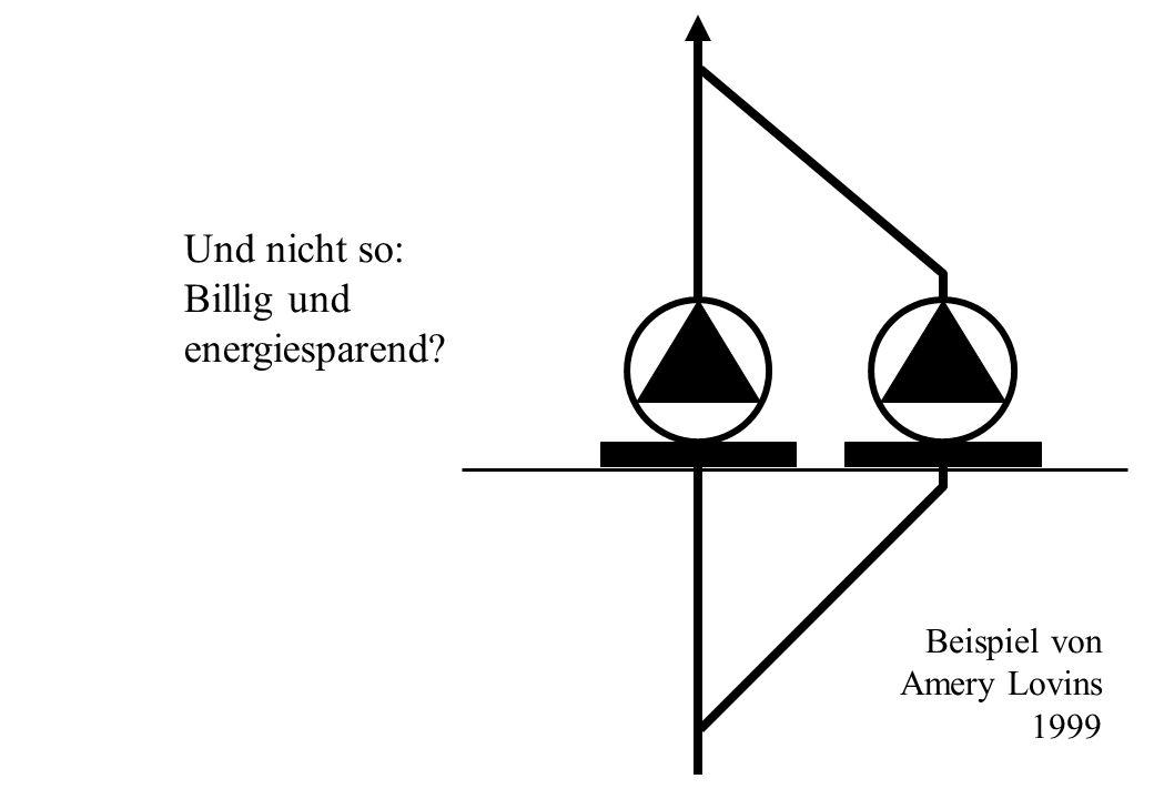 Und nicht so: Billig und energiesparend Beispiel von Amery Lovins