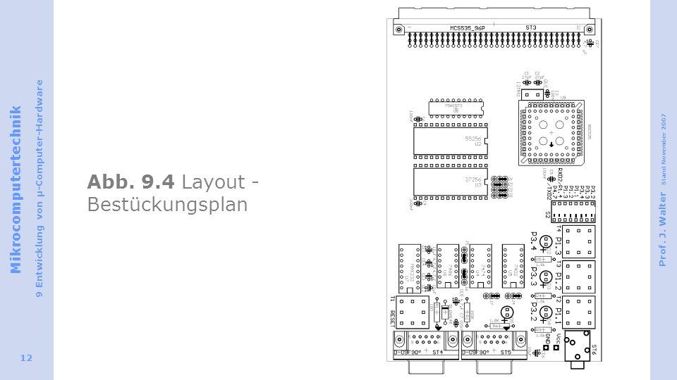 Abb. 9.4 Layout - Bestückungsplan
