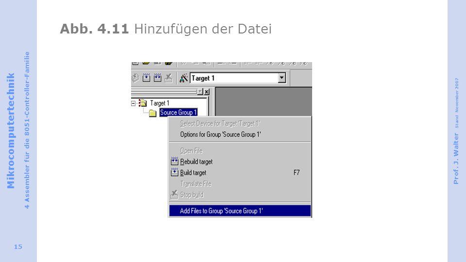 Abb. 4.11 Hinzufügen der Datei