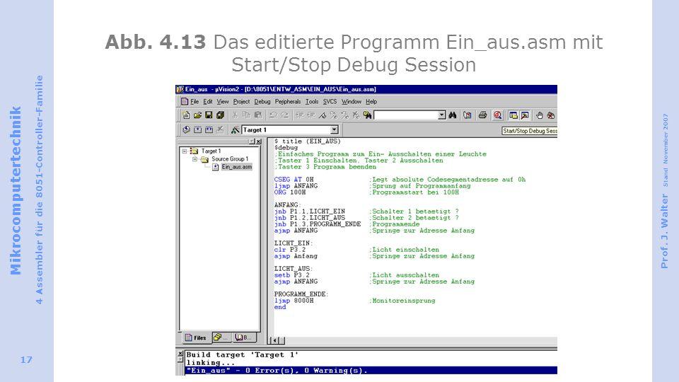 Abb. 4. 13 Das editierte Programm Ein_aus