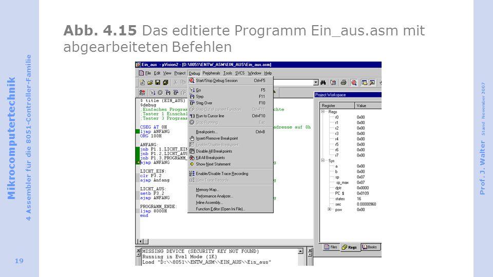 Abb. 4. 15 Das editierte Programm Ein_aus