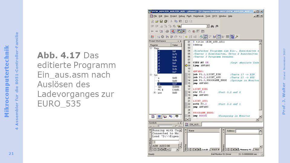 Abb. 4. 17 Das editierte Programm Ein_aus