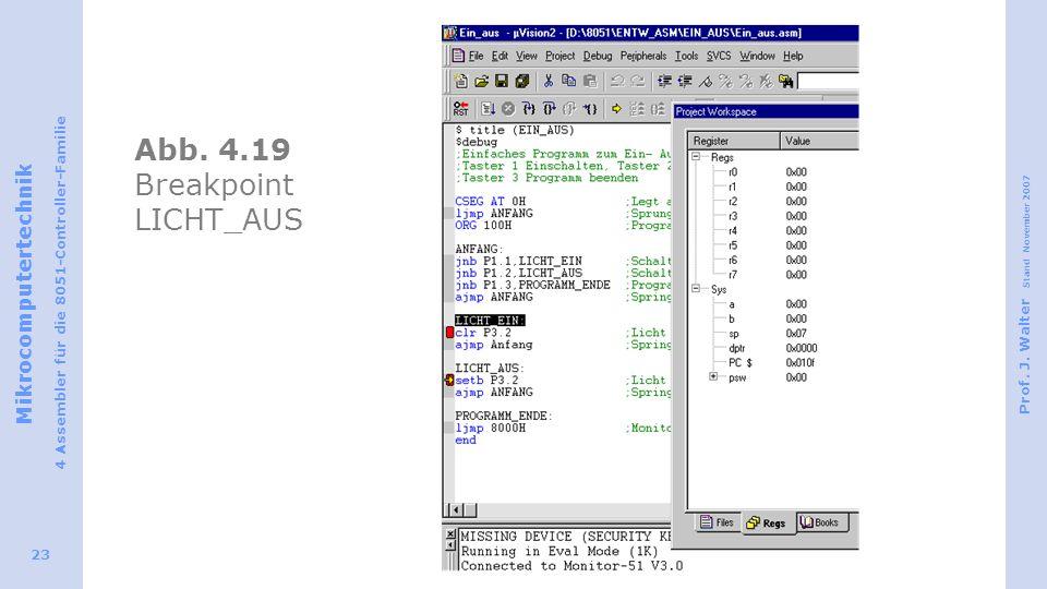 Abb. 4.19 Breakpoint LICHT_AUS