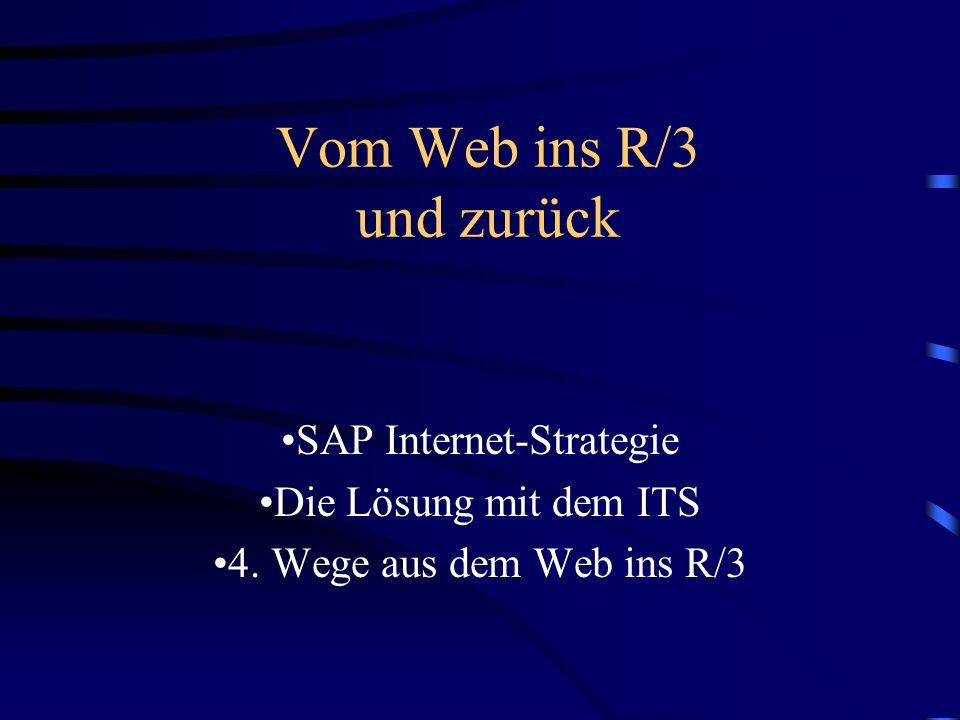 Vom Web ins R/3 und zurück