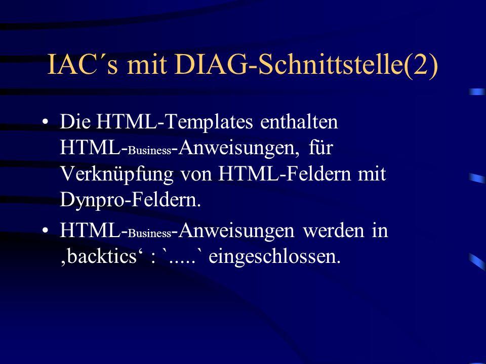 IAC´s mit DIAG-Schnittstelle(2)