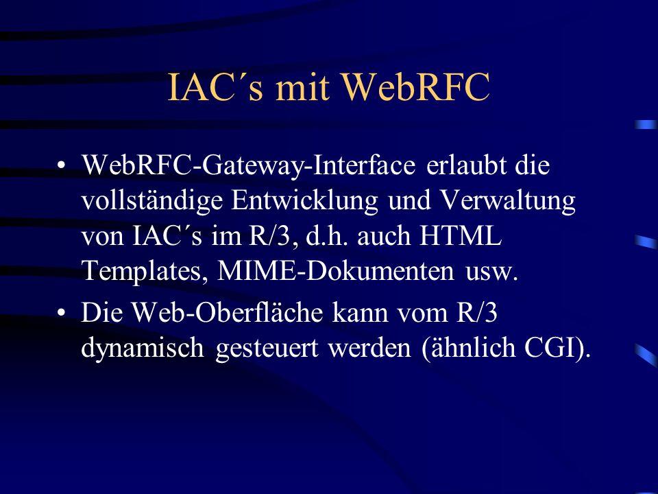 IAC´s mit WebRFC