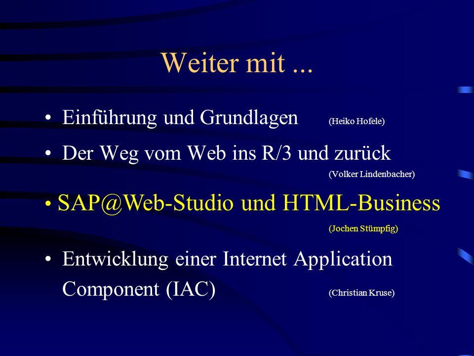 Weiter mit ... Einführung und Grundlagen (Heiko Hofele)