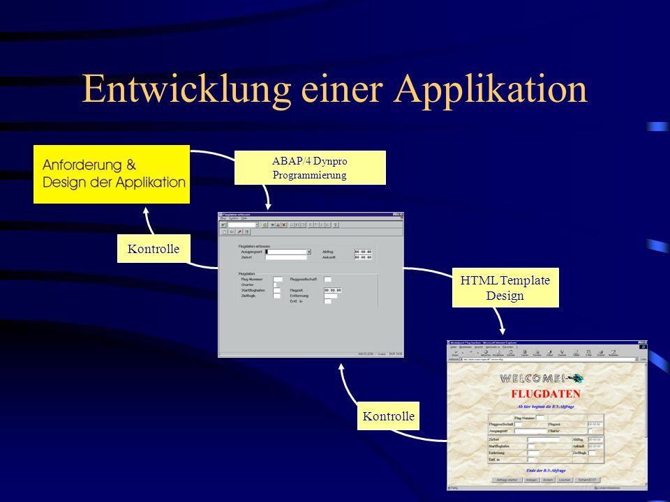 Entwicklung einer Applikation