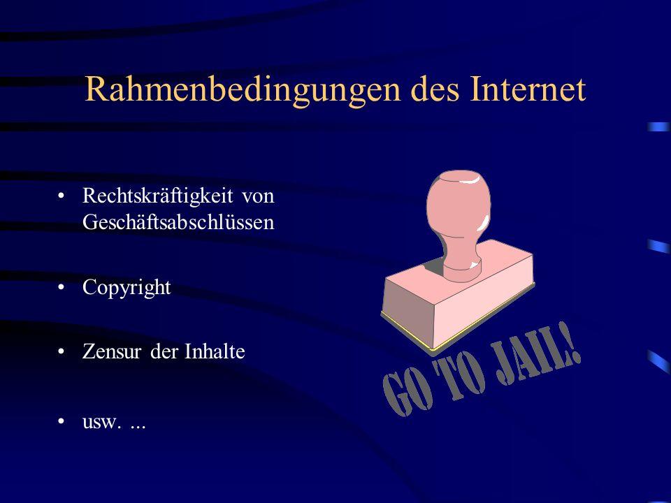 Rahmenbedingungen des Internet