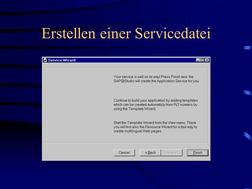 Erstellen einer Servicedatei