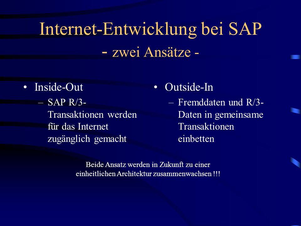 Internet-Entwicklung bei SAP - zwei Ansätze -
