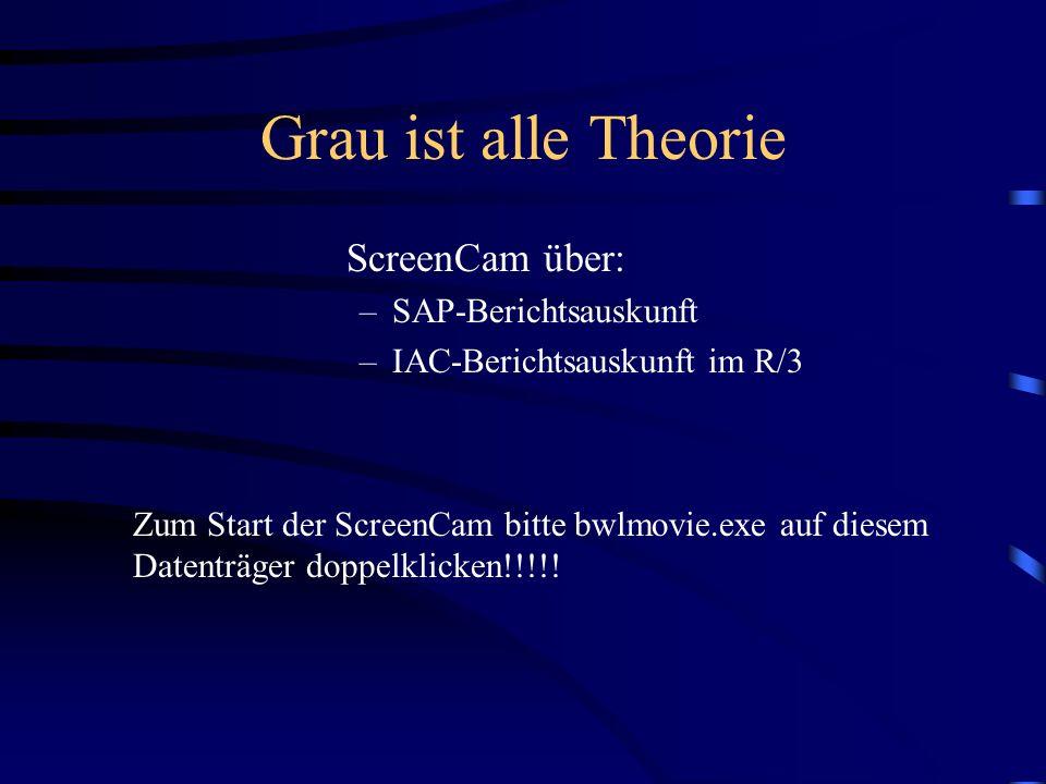 Grau ist alle Theorie ScreenCam über: SAP-Berichtsauskunft