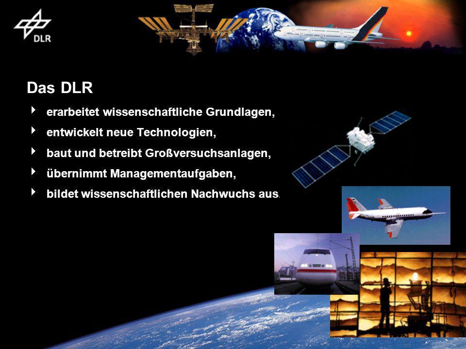 Das DLR erarbeitet wissenschaftliche Grundlagen,