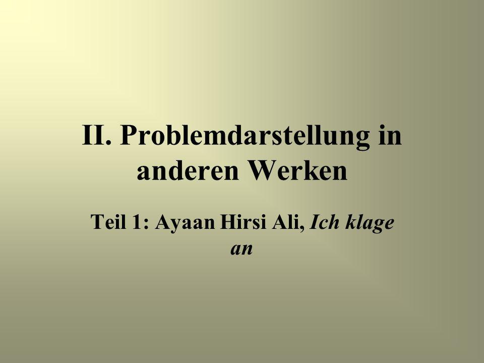 II. Problemdarstellung in anderen Werken